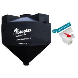 Biodigestor Autolimpiable Rotoplas 3000 L + Accesorios